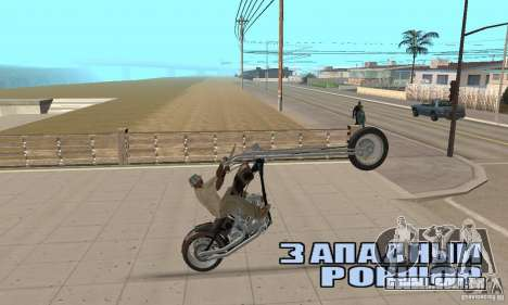 Desperado Chopper para GTA San Andreas vista traseira