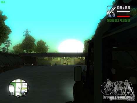 UAZ Hunter para GTA San Andreas vista traseira