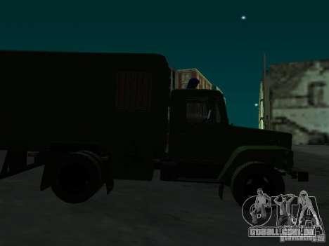GAZ 3309 camburão para GTA San Andreas vista interior