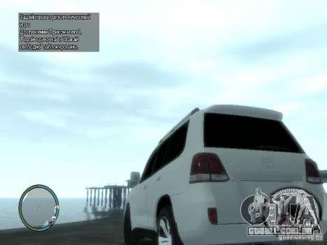Toyota Land Cruiser 200 FINAL para GTA 4 traseira esquerda vista