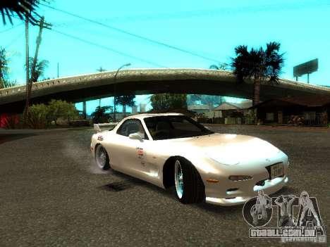 Mazda RX-7 TypeR para GTA San Andreas traseira esquerda vista