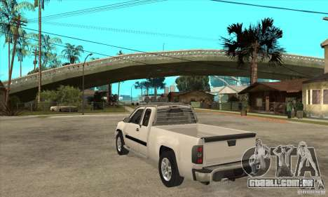 GMC Sierra para GTA San Andreas traseira esquerda vista