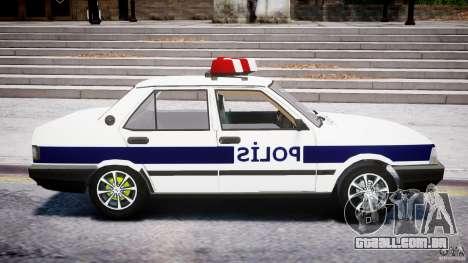 Tofas Sahin Turkish Police v1.0 para GTA 4 vista de volta