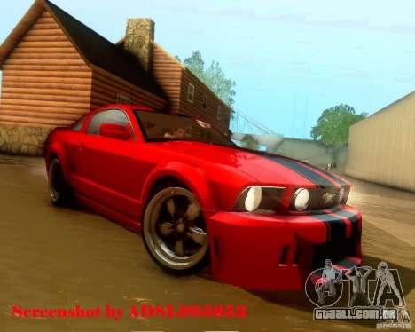 Ford Mustang GT 2005 Tunable para o motor de GTA San Andreas