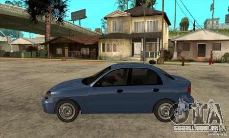Daewoo Lanos v2 para GTA San Andreas esquerda vista