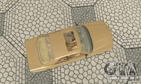 Mercedes-Benz W126 560SEC para GTA San Andreas vista direita