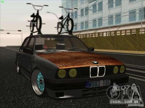 BMW E30 Rat para GTA San Andreas traseira esquerda vista