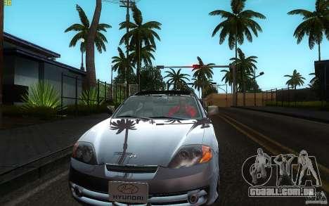 Hyundai Tiburon V6 Coupe 2003 para GTA San Andreas vista interior