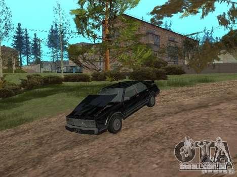 Romano é taxi do GTA 4 para GTA San Andreas vista traseira