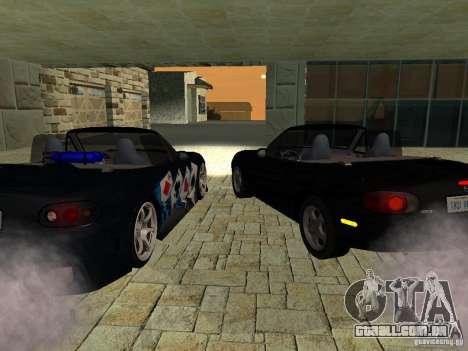 Mazda MX5 Miata para GTA San Andreas traseira esquerda vista