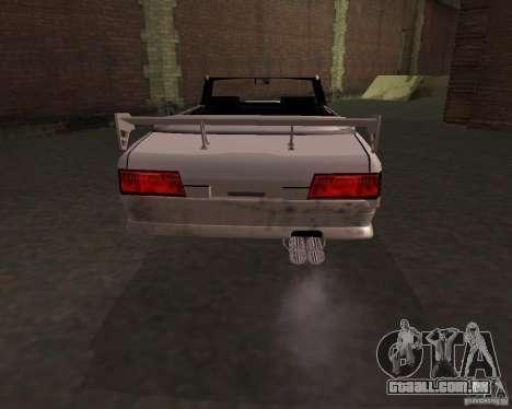 Taxi Cabrio para GTA San Andreas traseira esquerda vista