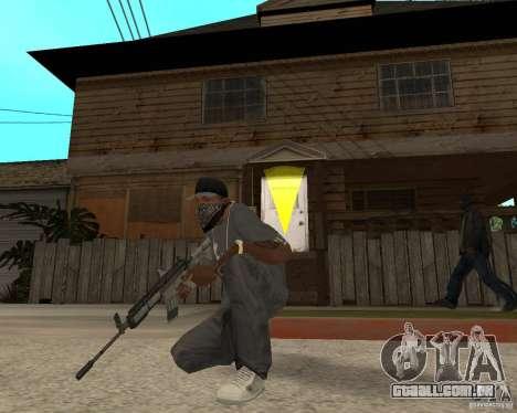 M4A1 com vista kolliminotarnym. para GTA San Andreas terceira tela