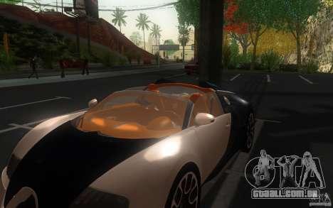 Bugatti Veyron 16.4 Grand Sport Sang Bleu para GTA San Andreas vista interior