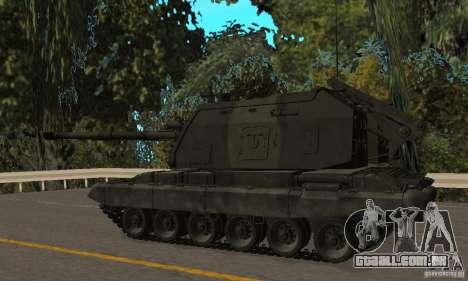 2s19 Msta-s, versão de inverno para GTA San Andreas traseira esquerda vista