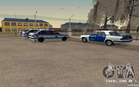 Polícia PSB Vaz 2114 para GTA San Andreas traseira esquerda vista