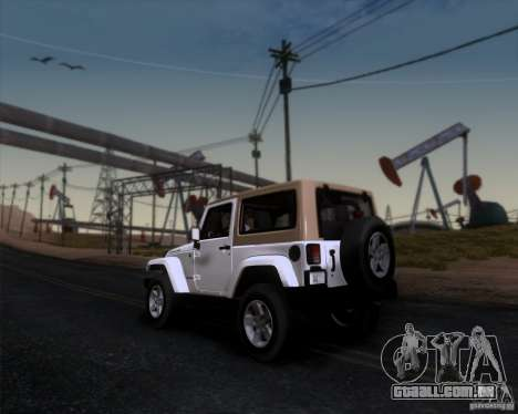 Jeep Wrangler Rubicon para GTA San Andreas esquerda vista
