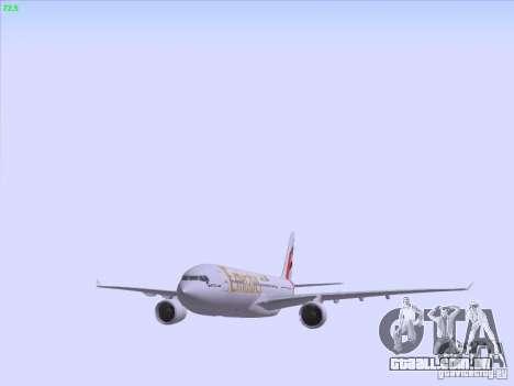 Airbus A330-200 Emirates para GTA San Andreas vista inferior