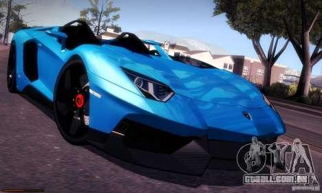 Lamborghini Aventador J para GTA San Andreas vista interior