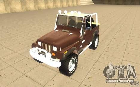 Jeep Wrangler 1986(2) para GTA San Andreas esquerda vista