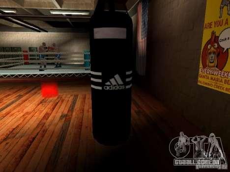 Novo saco de pancadas boxe para GTA San Andreas quinto tela