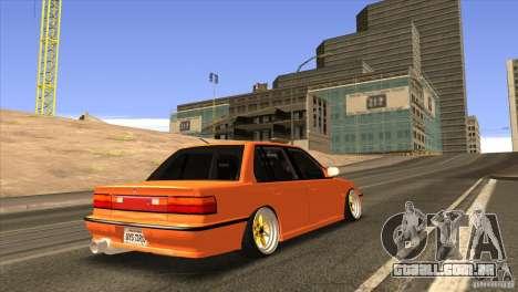 Honda Civic EF9 Sedan para GTA San Andreas vista traseira