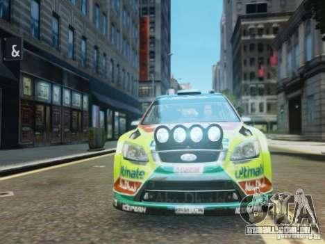 Ford Focus RS WRC para GTA 4 vista de volta
