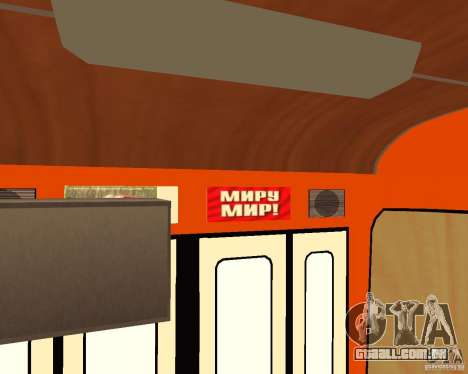 LIAZ-677 (momento de Café) para GTA San Andreas vista interior