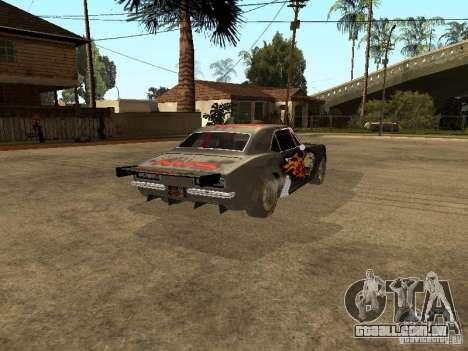Chevrolet Camaro SS Dragger para GTA San Andreas traseira esquerda vista