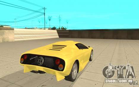 Infernus do GTA 4 para GTA San Andreas traseira esquerda vista