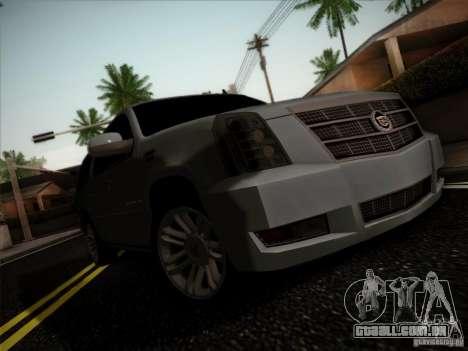 Cadillac Escalade ESV Platinum para GTA San Andreas esquerda vista