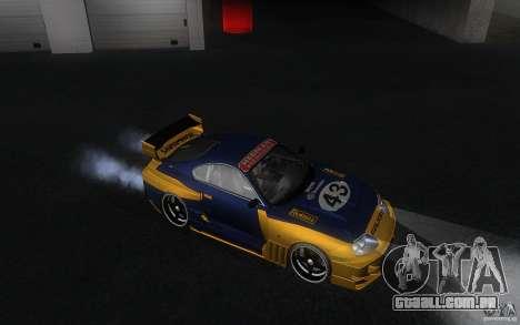 Toyota Supra Chargespeed para GTA San Andreas vista interior
