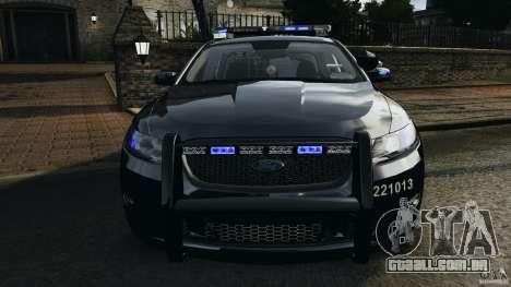 Ford Taurus 2010 Atlanta Police [ELS] para GTA 4 vista inferior