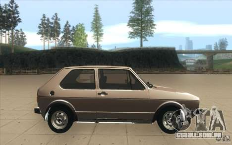 Volkswagen Golf Mk1 - Stock para GTA San Andreas vista interior