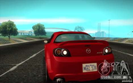 Mazda RX-8 R3 2011 para GTA San Andreas traseira esquerda vista