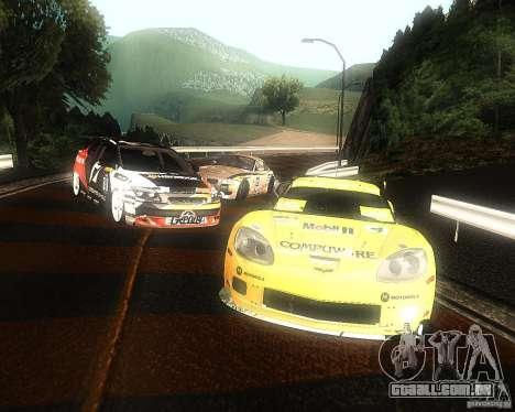 Chevrolet Corvette Drift para GTA San Andreas vista interior