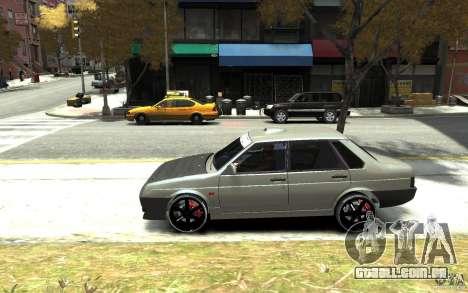 VAZ 21099 para GTA 4 esquerda vista