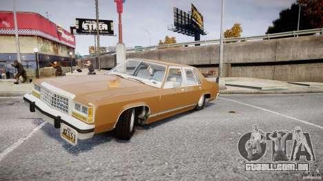 Ford Crown Victoria 1983 para GTA 4 motor