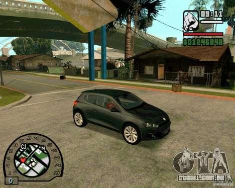 Volswagen Scirocco para GTA San Andreas traseira esquerda vista