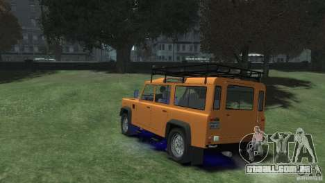 Land Rover Defender Station Wagon 110 para GTA 4 esquerda vista