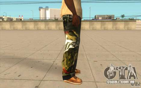 Hip-hop jeans para GTA San Andreas por diante tela