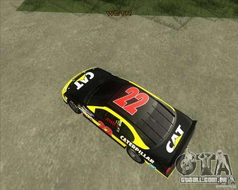 Dodge Nascar Caterpillar para GTA San Andreas vista direita