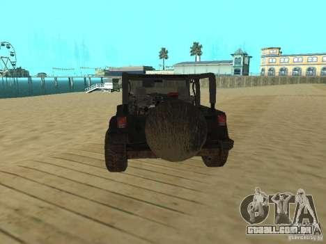 Jeep Wrangler SE para GTA San Andreas traseira esquerda vista