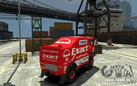 MAN TGA Rally Truck para GTA 4 vista direita