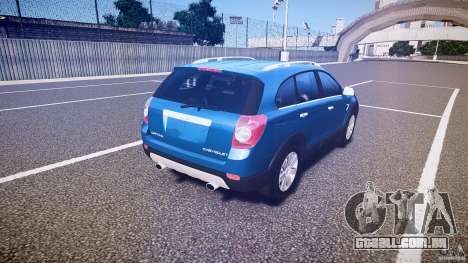 Chevrolet Captiva 2010 Final para GTA 4 vista superior