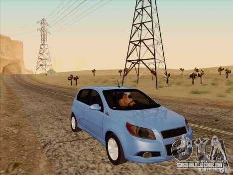 Chevrolet Aveo LT para GTA San Andreas vista traseira