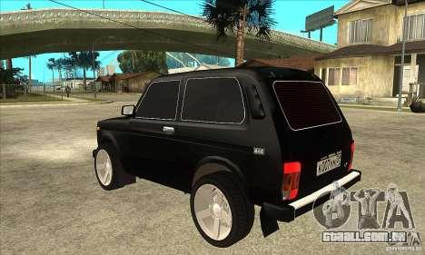 VAZ 21213 NIVA matizado para GTA San Andreas traseira esquerda vista