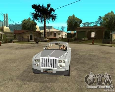 Rolls-Royce Phantom (2003) para GTA San Andreas vista traseira