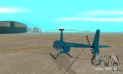 Robinson R44 Raven II NC 1.0 TV para GTA San Andreas vista direita
