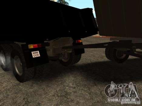 GKB 8350 Flatbed para GTA San Andreas vista direita
