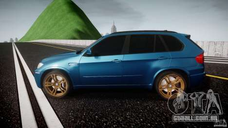 BMW X5 M-Power wheels V-spoke para GTA 4 esquerda vista